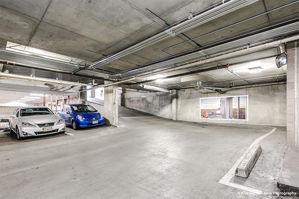 The SugarCube parking garage