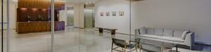 modern furniture in the SugarCube lobby