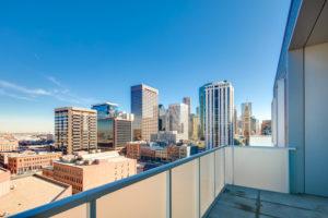 Terrace view of downtown Denver