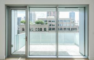 Glass doors onto Terrace