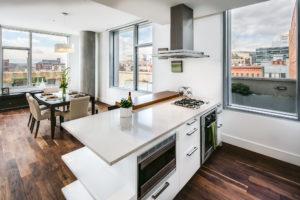 A modern minimalist kitchen