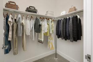 a photo of a closet