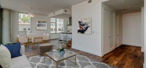 A living room wide angle shot