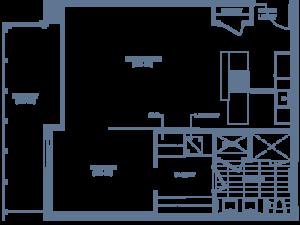 Unit 901 floorplan at SugarCube